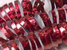 Czerwona serpentyna holograficzna
