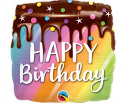 Balon foliowy w kształcie tortu urodzinowego