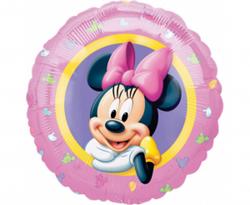Różowy balon foliowy z myszką Minnie