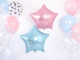 Balony foliowe w kształcie gwiazdek - niebieska i różowa