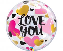 Balon foliowy z motywem miłosnym