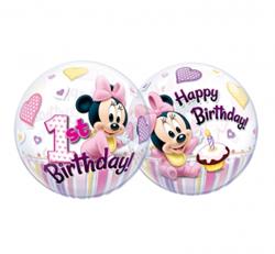 Balony z myszką minnie na pierwsze urodziny