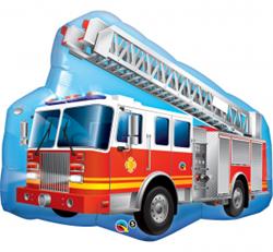 Balon foliowy w kształcie wozu strażackiego