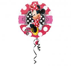 Czerwony balon foliowy z myszką Minnie