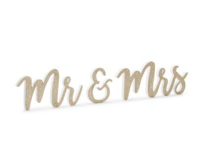 "Drewniany napis ""Mr&Mrs"""