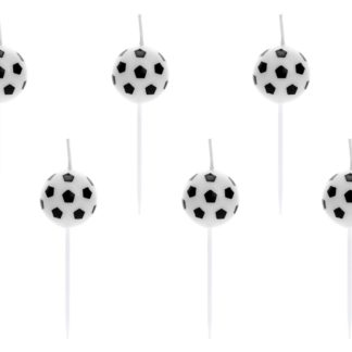 Świeczki na tort w kształcie piłek do piłki nożnej