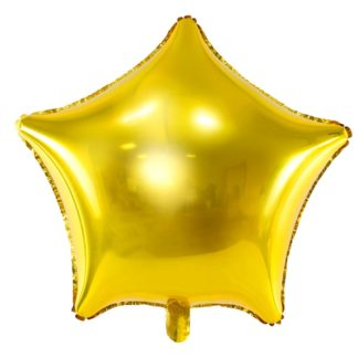 Złoty balon foliowy w kształcie gwiazdki