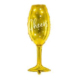 Balon foliowy w kształcie kieliszka do szampana