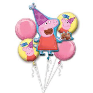 Zestaw balonów z motywem świnki Peppa