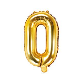 Złoty balon foliowy w kształcie litery O