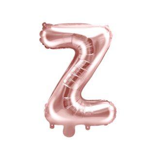 Różowe złoto balon foliowy w kształcie litery Z