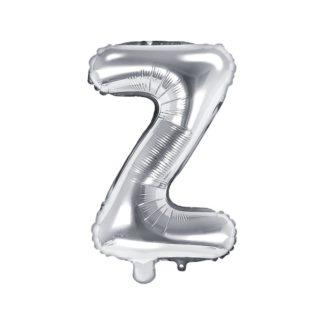 Srebrny balon foliowy w kształcie litery Z
