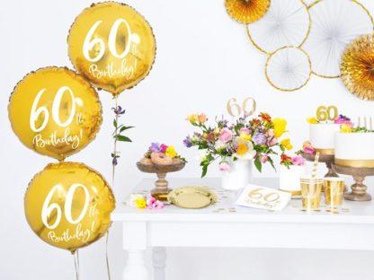 Dekoracje i balony na 60 urodziny