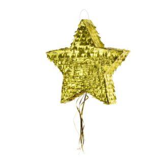 Złota piniata w kształcie gwiazdki