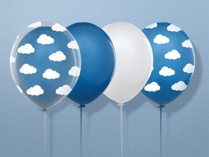Zestaw balonów w chmurki