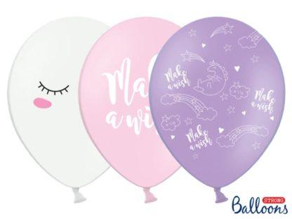 Mix balonów lateksowych z jednorożcem