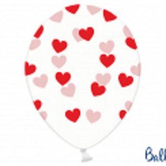 Balon lateksowy w czerwone serduszka