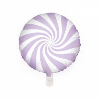 Balon foliowy w kształcie fioletowego lizaka
