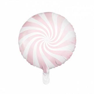 Balon foliowy w kształcie różowego lizaka