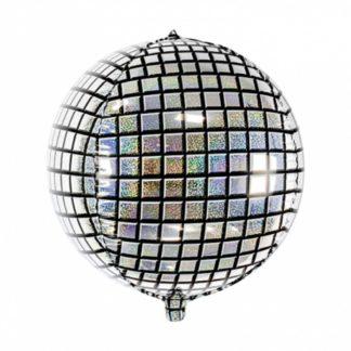 Balon foliowy w kształcie kuli dyskotekowej