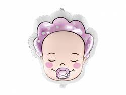 Balon foliowy w kształcie bobasa dziewczynki