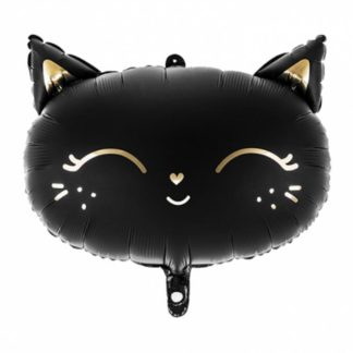 Balon foliowy w kształcie czarnego kotka