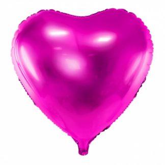 Ciemno różowy balon foliowy w kształcie serca