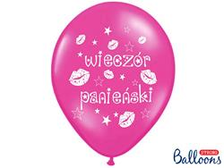 """Różowy balon lateksowy z napisem """"wieczór panieński"""""""