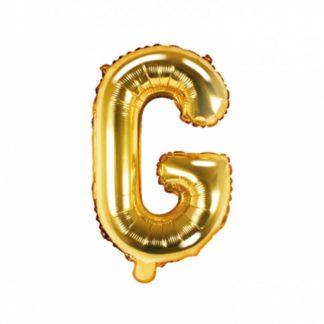 Złoty balon foliowy w kształcie litery G
