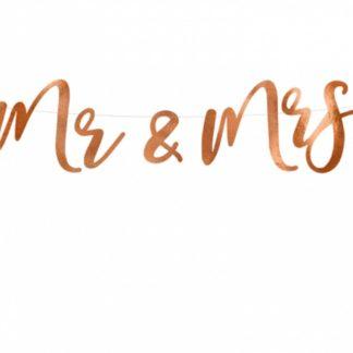 Różowe złoto baner dla pary