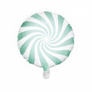 Balon foliowy w kształcie miętowego lizaka