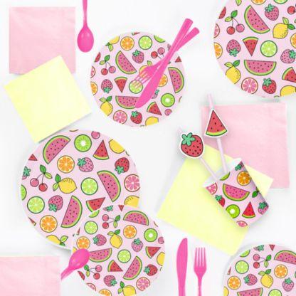 Słomki papierowe z owocami