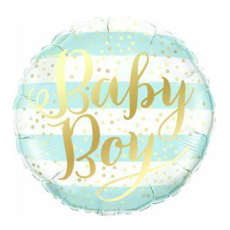 """Balon foliowy z napisem """"baby boy"""""""