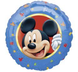 Niebieski balon foliowy z myszką Mickey