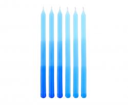 Niebieskie świeczki na tort z motywem ombre