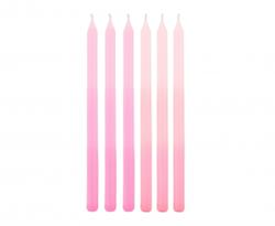 Różowe świeczki na tort z motywem ombre