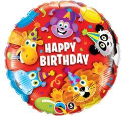 Balon foliowy na urodziny ze zwierzątkami