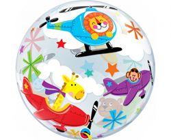 Balon foliowy ze wzorem zwierząt w samolotach
