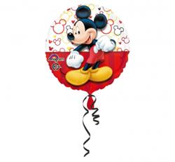 Czerwony balon foliowy z myszką Miki