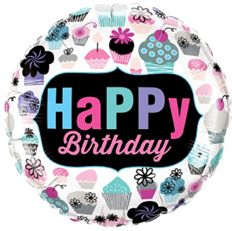 Balon foliowy urodzinowy z muffinkami