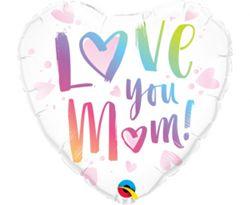 """Balon foliowy z napisem """"love you mom"""""""