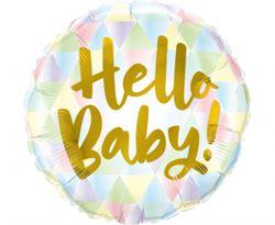 "Balon foliowy z napisem ""hello baby"""