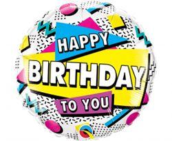 Kolorowy balon foliowy na urodziny