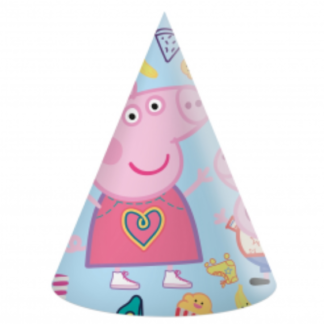 Czapeczka papierowa na urodziny z motywem Świnki Peppy