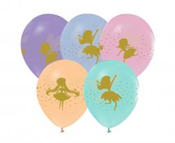 Kolorowe balony lateksowe z wróżkami