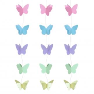 Girlanda z kolorowymi motylkami