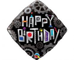 Balon foliowy w motywie urodzin i robotów