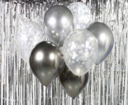 Zestaw czarnych balonów latekstowych