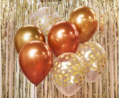 Zestaw złotych balonów latekstowych