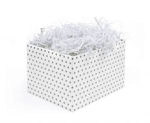 Biały wypełniacz do pakowania prezentów